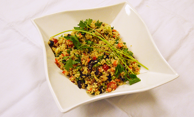 The completed quinoa salad. Photo by Erin Stephenson