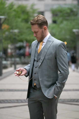 Men's custom-made suits from Alabaster & Chess of New York City are available at The Tailored Fit. Photo by Magnanimous Pictures