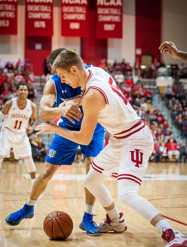 Indiana's Zach McRoberts, 15. Photo by Rodney Margison