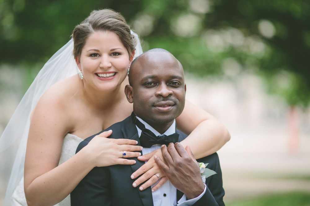 Sarah Ristau and Seun Akinyosoye. Photo by Wandering Heart Photography