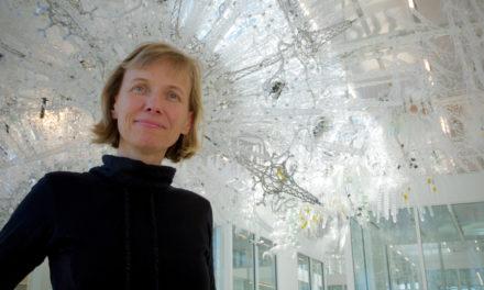 Katy Börner: Co-Creator of Dazzling 'Sentient Sculpture' in IU Luddy Hall