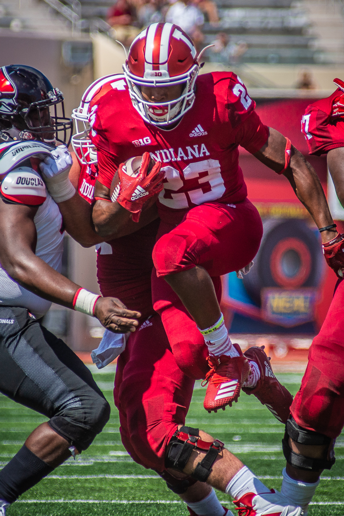 IU running back Ronnie Walker Jr. (23). Photo by Rodney Margison