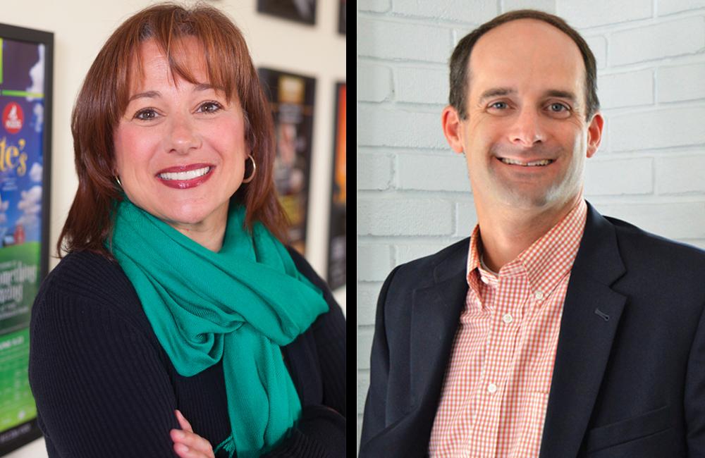 (l-r) Diane Buzzell and Jon Barada. Photos by James Kellar and Jaime Sweany
