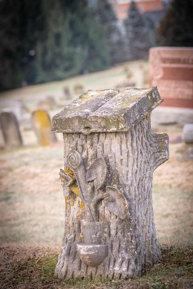 Stump Headstone 099