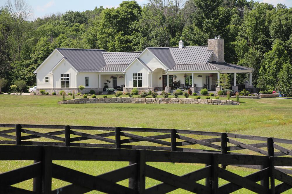 A modern farmhouse design/build in southern Monroe County; (above) a design/build in the Renwick neighborhood.
