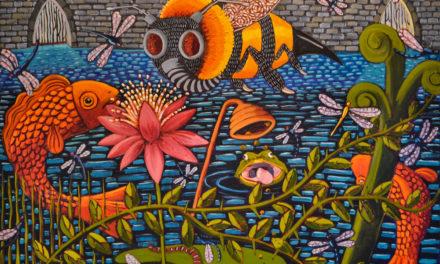 Artist Karen Holtzclaw: Bright Works Reveal Dark Themes