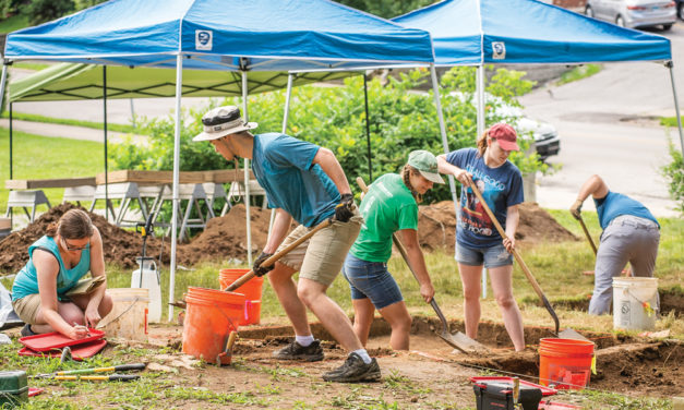 A Dig at Wylie House Museum Unearthing 1859 Greenhouses