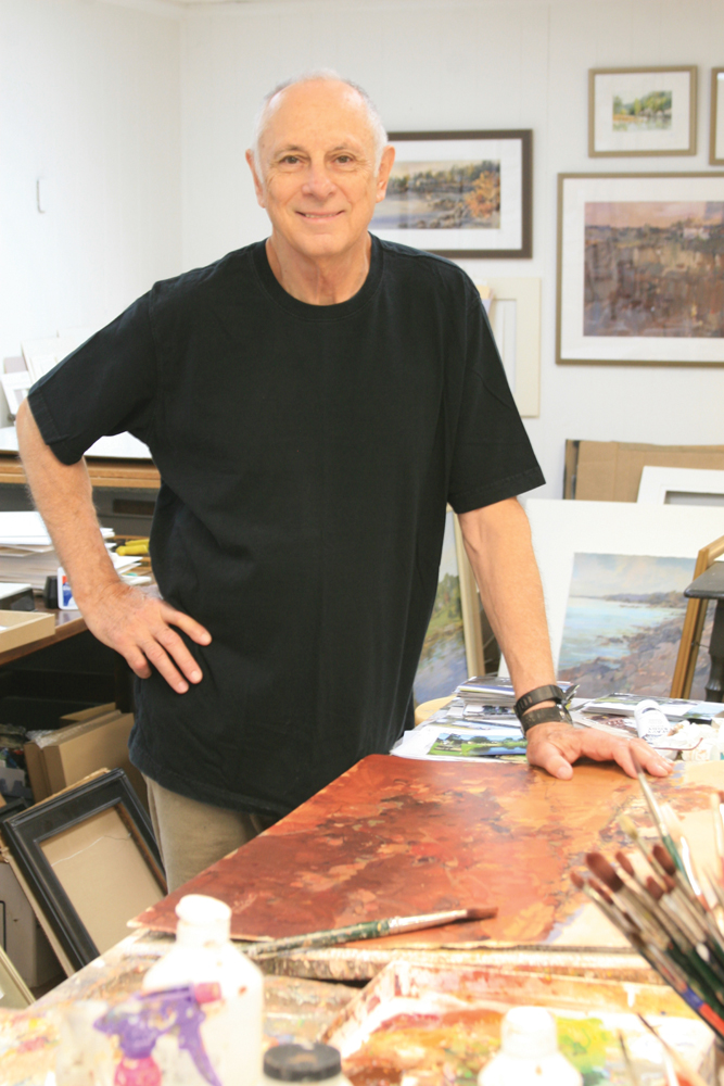 The artist, Jerry Smith, in his studio. Courtesy photos