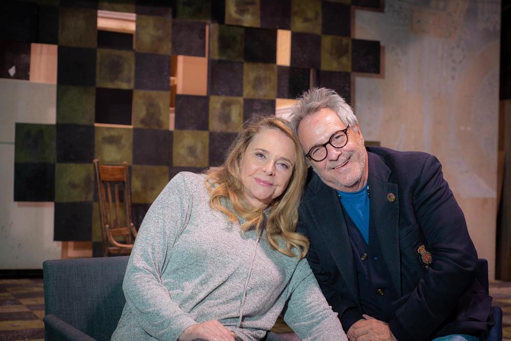 (l-r) Actress Priscilla Barnes and director David Anspaugh. Photo by Rodney Margison